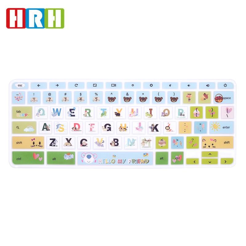 HRH Высококачественная ультратонкая прочная силиконовая накладка на клавиатуру для ноутбука HP Chromebook 11,6 дюйма, Chromebook 11 G2