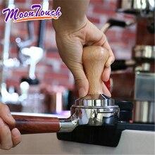 Solid wood powder hammer beech coffee press bar Italian machine Tamper thread 58MM