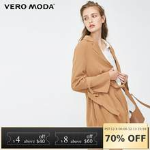 Vero Moda new pleated laced placket in the long pure trenchcoat windbreaker jacket | 318317507(China)
