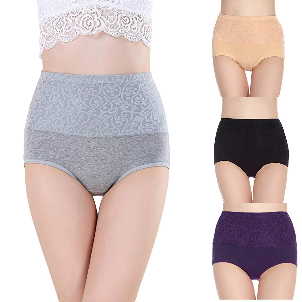 Women High Waist Tummy Control Panties Underwear Shapewear Brief Panties Women's Panties Comfort Underwear Skin-friendly Briefs