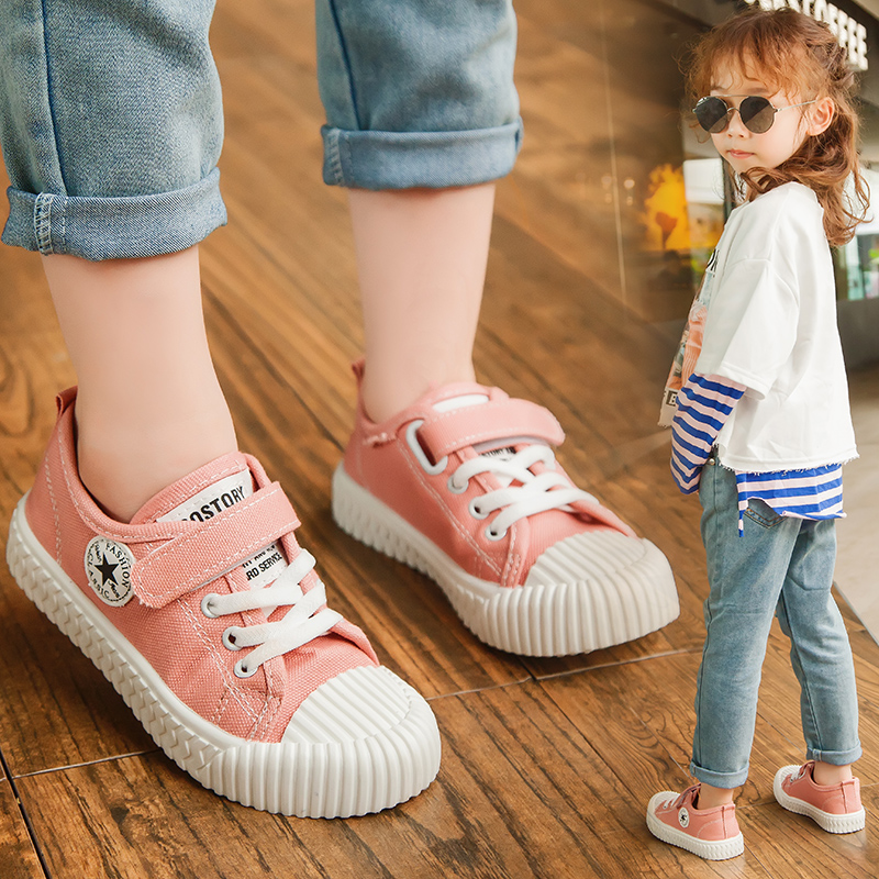 2020 Kids Sneakers Children Casual Canvas Shoes For Boys Girls Unisex Classic Skate Sneakers Candy Colors Fashion Soft