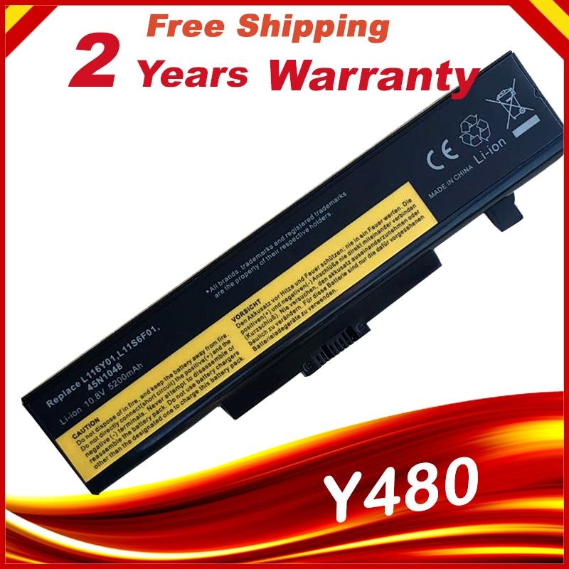 Laptop Battery for Lenovo Y580 Y480 G510 G580 G710 G480 Z480 Z580 Z585 L11M6Y01 L11L6Y01 L11L6F01 L11L6R01 L11N6R01