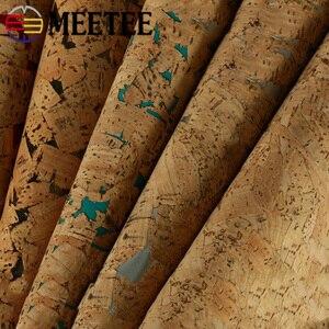 Meetee 100X137cm 1 мм Толстая натуральная пробковая печать кожаная ткань PU Сумка для дома деко Синтетическая Кожа DIY Обувь Аксессуары для одежды
