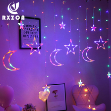 Led moon star lights lantern string holiday lights