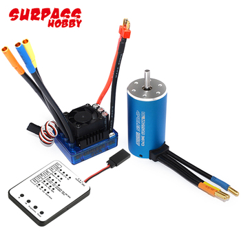 3670 2150KV/1900KV 4-poles Sensorless Brushless Motor with 80A ESC and LED Program Card For 1/8 RC Car Truck hot sale 3670 1900kv 4 poles sensorless brushless motor for 1 8 rc car