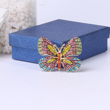 Beadsland Alloy Inlaid Rhinestone Brooch Butterfly Modeling Fashionable High-end Clothing Accessories Pin Woman Gift MM-981