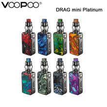 Original VOOPOO DRAG mini Platinum Kit DRAG Mini Platinum Box Mod Vape 4400mah UFORCE T2 Tank Electronic Cigarette Vaporizer voopoo drag mini kit 117w resin vape box mod with uforce t2 tank p2 coil 4400mah built in battery gene fit chip vs drag 157w