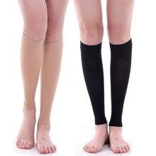 Unisex Sport Leg warmer Black Footless Compression Socks For RunningCompression Leg Sleeve Relieve Varicose Veins Circulation