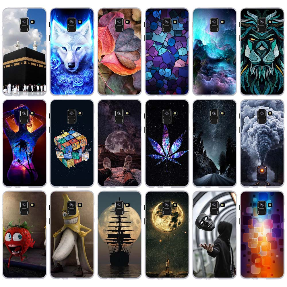 Case For <font><b>Samsung</b></font> Galaxy A8 2018 Case <font><b>Cover</b></font> for <font><b>Samsung</b></font> A8 2018 <font><b>A530F</b></font> <font><b>Cover</b></font> Soft Silicone Coque for <font><b>Samsung</b></font> Galaxy A8 Phone Cases image
