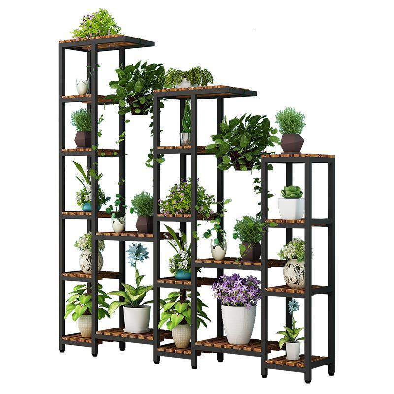 Rak Bunga Wooden Shelves For Scaffale Porta Piante Plantenrekken Plant Table Dekoration Outdoor Balcony Shelf Flower Stand