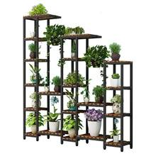 Rak Bunga Wooden Shelves For Scaffale Porta Piante Plantenrekken Plant Table Dekoration Outdoor Balcony Shelf Flower Stand(China)