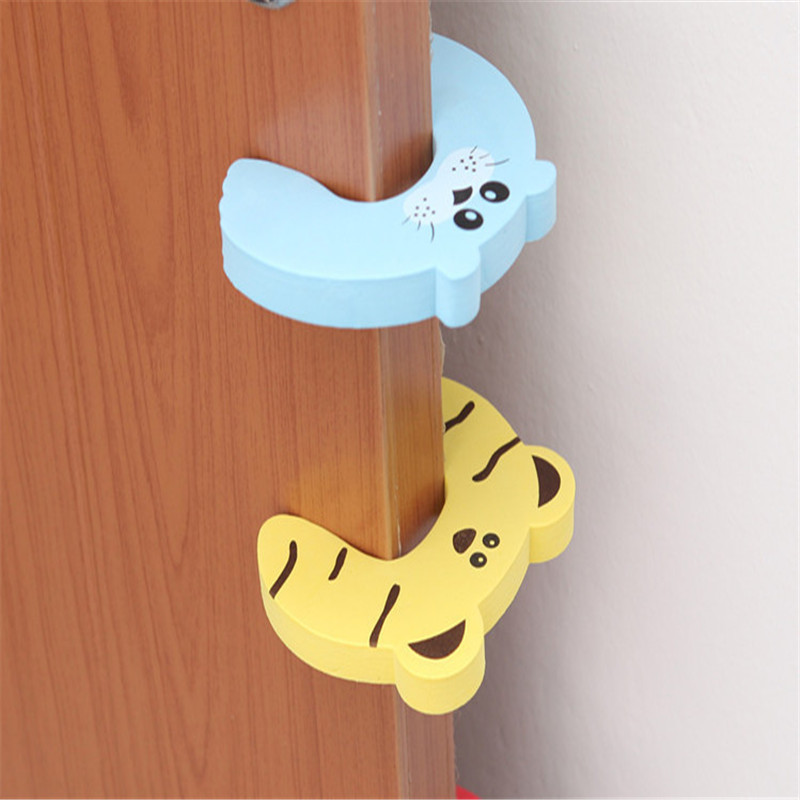 3~5pcs Protection From Children Cute Security Card Door Stoppe Baby Finger Protector Furniture Door Blocked Safe Kid Corner