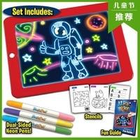 3D 스케치 패드 어린이 가정 정보 낙서 보드 교육 전자 빛나는 드로잉 보드 유아 교육| |   -
