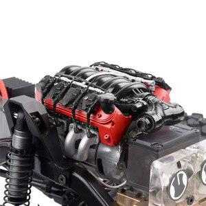 Image 1 - LS7シミュレートV8電気エンジンモーターラジエータークーラーため1/10 TRX4ディフェンダーSCX10 rc rcクローラ部品冷却ファン