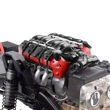 Simular ls7 v8 motor elétrico radiador duplo cooler para 1/10 trx4 defender scx10 rc peças rastreador ventilador de refrigeração
