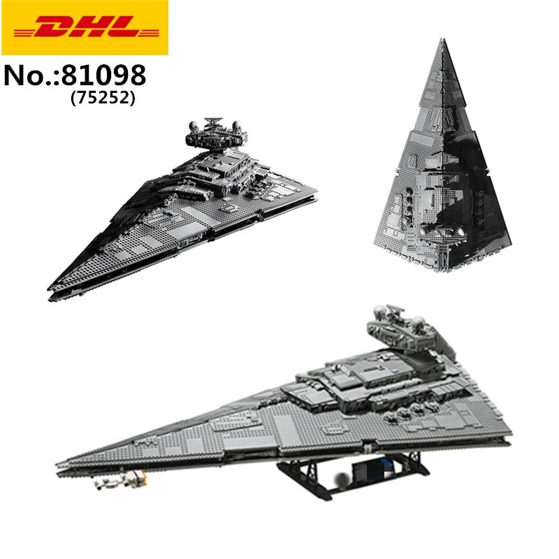 En STOCK 81098 5782 pièces Star Toys Wars 75252 UCS impérial Star Destroyer blocs de construction briques enfants noël jouets cadeaux 05027