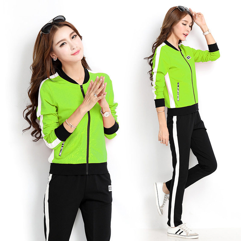 2019 Spring And Autumn New Style Sports Leisure Suit Korean-style Fashion Casual Sports Clothing Sports WOMEN'S Suit Two-Piece S
