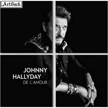 Four spell diamond painting JOHNNY HALLYDAY french singer portrait full square 5d mosaic embroidery