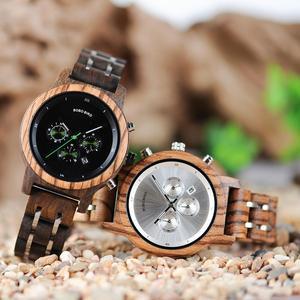 Image 4 - BOBO kuş kadınlar saatler relogio feminino ahşap bayanlar kuvars kronometre kol saati hediye kız arkadaşı için kutusu saat erkek saat