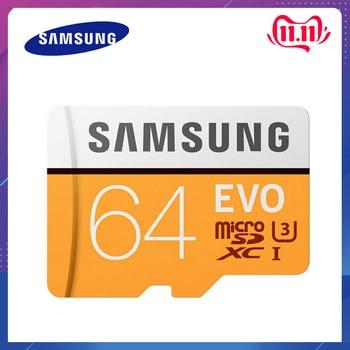 SAMSUNG EVO 64GB U3 Class10 Micro SD Card 32GB microSD UHS-I TF Card 128GB + 4 in 1 Type-c/Lightning/Micro USB/USB 2.0 Card Read