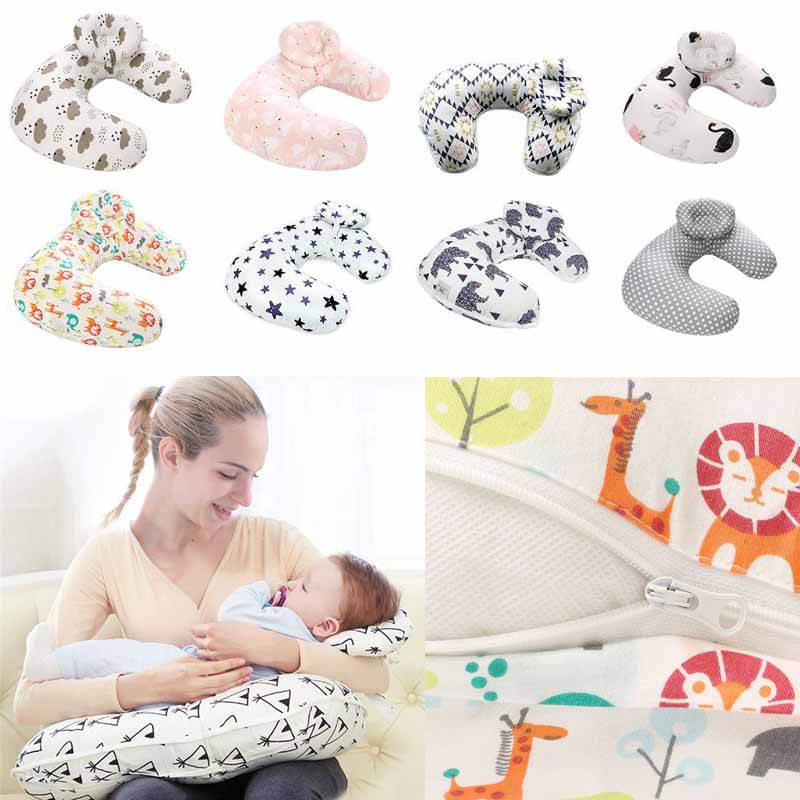 Infant Feeding U Shaped Pillow Breast Nursing Pillow Cover Slipcover Baby Lounger Back Support Cushion