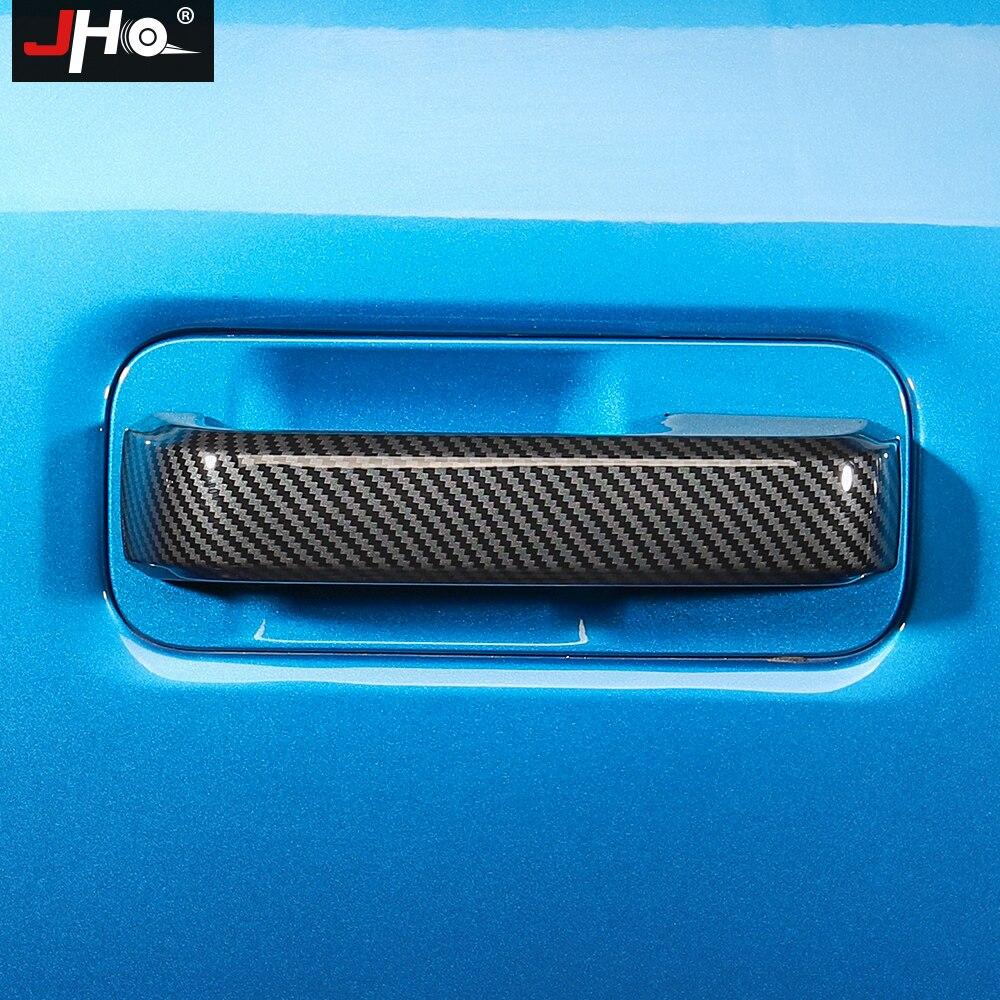 Купить jho abs углеродное зерно автомобильные дверные ручки накладки