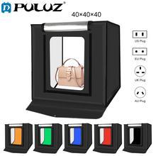 Puluz softbox de estúdio fotográfico, 40*40cm 16mc, mini caixa de iluminação para foto, ensaio, tenda kit de caixa de luz