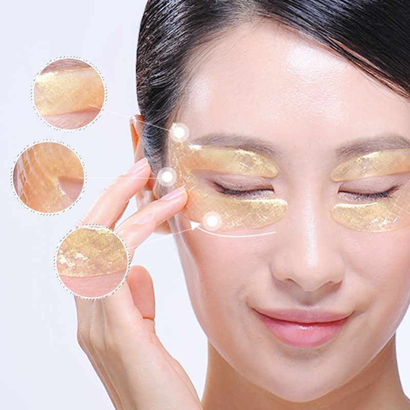 24K Gold Mask Caviar Collagen Essence Eye Patch Anti Aging Remove Wrinkle Eye Mask in Masks from Beauty Health