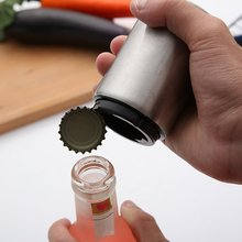 Creative Automatic Beer Bottle Opener Stainless Steel Wine Beer Soda Glass Cap Bottle Opener Portable Bar Accessories