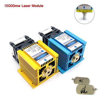 15000MW laser module blue light 445nm wavelength fixed focus laser DIY laser engraving cutting wood plastic 304 stainless steels steels technology