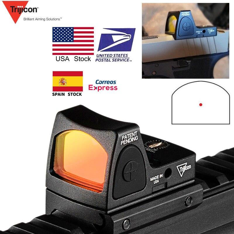 EUA Banco de Mini RMR Red Dot Visão laser Colimador Glock Mira Reflex Scope fit 20 milímetros Ferroviário Tecelão Para A Caça Airsoft rifle RL5-0004-2