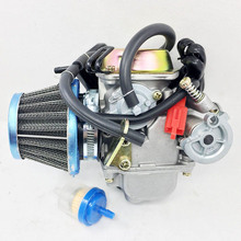 цена на Hot Carburetor Carb W/Filter for Gy6 150cc Scooter Roketa SUNL Go-Kart GY6 PD24~