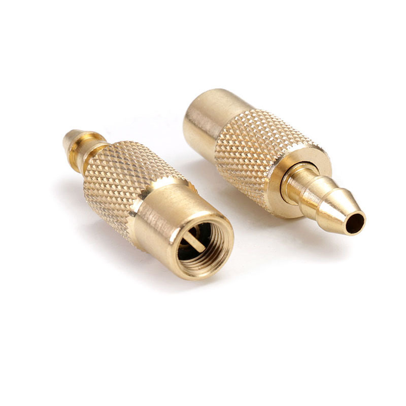 Купить с кэшбэком 2pcs Bore hose Tire Inflator Valve Connector Brass Wheel 6mm Air Pump Copper Accessory Car Tire Inflator Valve Connectors