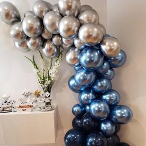100 sztuk 12 cali srebrny złoty metalik lateksowe balony perłowy metalowy balon złote kolory Globos akcesoria na wesele, urodziny, imprezę Ballon