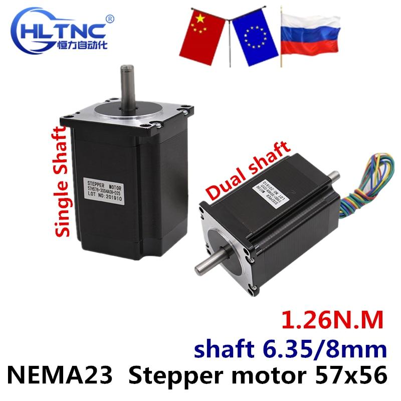 Ru es nema 23 motor deslizante 57x56 nema23 4 fios 3a 1.26n. m 180oz-in para cnc gravura máquina de trituração impressora 3d
