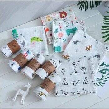 Muslin Newborn Baby Blankets Swaddle 100% Cotton Bedding Infant Wrap 120*110cm