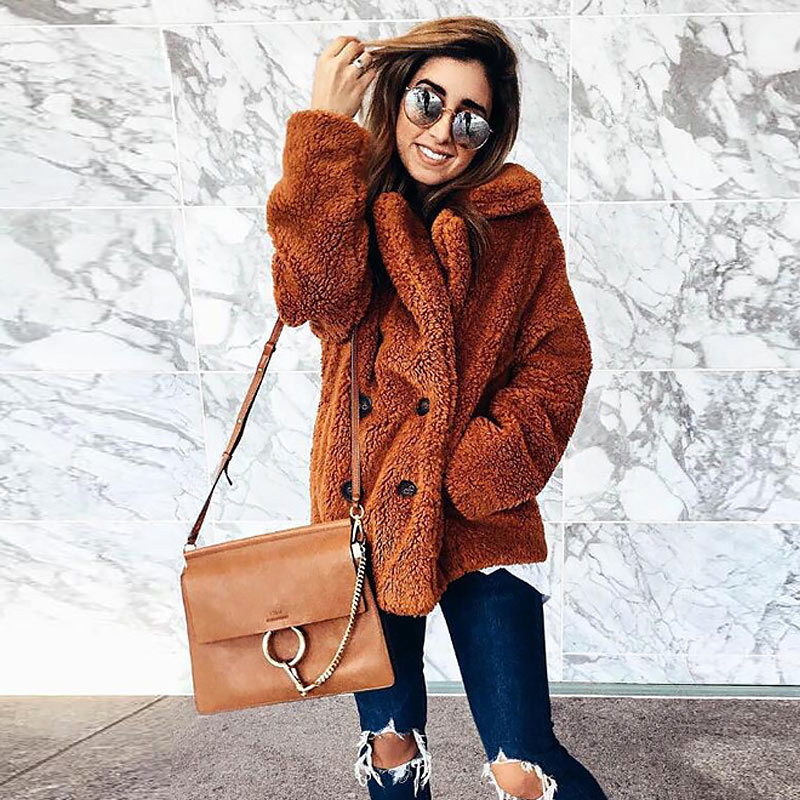 H1360cd2a163e4b83919f2ad15d32eff0R Women winter jacket 2019 fashion new double-breasted sweaters lapel loose fur jacket women outwear women coat ladies jacket