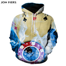 Magic Poker brand Men Hoodies Sweatshirts 3D Printed Funny Hip HOP Streetwear Hooded Fashion style