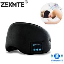 Wireless Stirnband Kopfhörer Bluetooth 5,0 Schlafen Augen Maske Kopfhörer Stirnband Stereo Kopfhörer 3D Schlaf Maske Musik Headset
