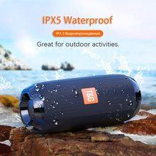 Tg117 alto-falante sem fio bluetooth baixo coluna ao ar livre à prova dwaterproof água portátil alto-falantes com fm aux tf cartão usb
