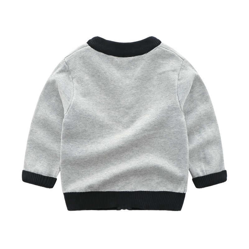 Свитер для мальчиков; осенний кардиган с длинными рукавами для девочек; хлопковая бейсбольная форма с вышивкой в виде собаки; рождественские детские свитера; одежда