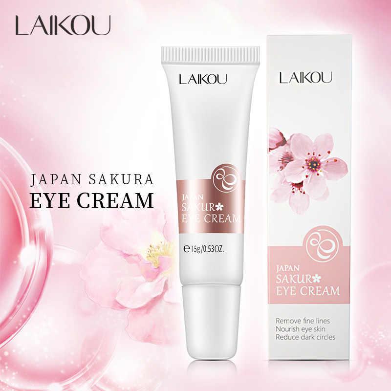 LAIKOU Oogcrème Sakura Serum Anti-Rimpel Anti-Leeftijd Remover Donkere Kringen Fijne Lijntjes Oogzorg Tegen Wallen en Tassen Verstevigende