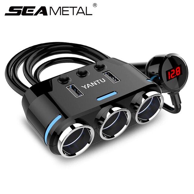 12V 24V 자동차 충전기 담배 라이터 소켓 분배기 자동 USB 충전 전화 DVR 카메라 12V 자동차 충전기 자동차 용품
