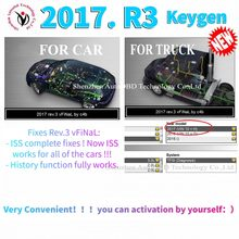 Herramienta de escaneo de diagnóstico para coche y camión, dispositivo con keygen en CD/DVD/disco para delphis vd ds150e cdp Vdijk Autocoms Pro obd2, novedad de 2021. R3, 2017
