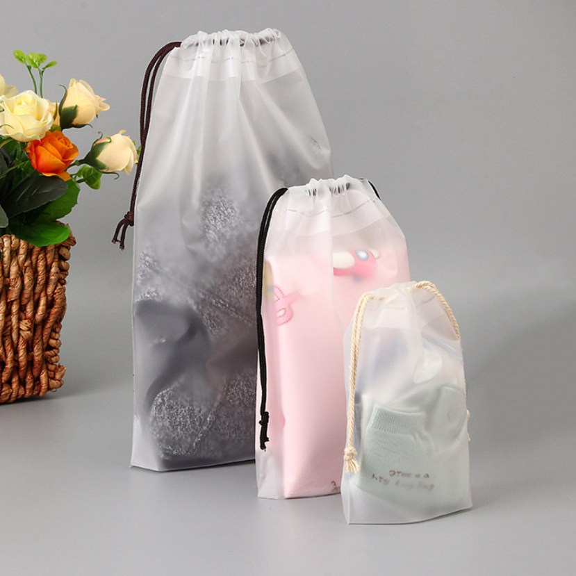 1pc Drawstring Swimming Bags Transparent Clothes Bag Sports Travel Storage Bags 4 Styles
