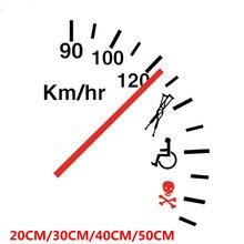 SLIVERYSEA Grappige Veiligheidswaarschuwing Speeder Auto Vinyl Bumper Auto Sticker en Sticker PVC