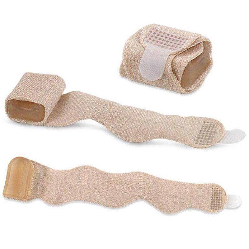 Um pedaço dedo do pé alisador martelo dedo do pé hallux valgus corrector bandagem dedo separador splint envolve cuidados com os pés suprimentos