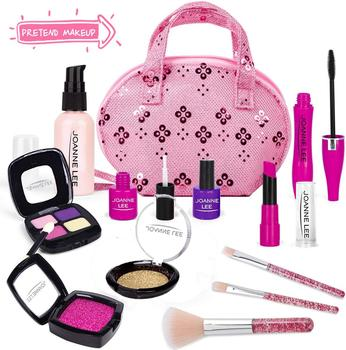 disney pretend play beauty fashion toys frozen child cosmetic set girl toy makeup box house eye shadow blush for kids gift Pretend Makeup Kit toys for Girl,Cosmetic Pretend Play Beauty Make Up Set, Fake Eye Shadow Brushes Glitter Nail Polish(Not Real)