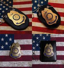 Szybki i wściekły 5 Agent specjalny oficer odznaki karta organizer na dokumenty karty z łańcuchem 1 1 prezent szybka pięć kolekcja Cosplay rekwizyty tanie tanio BADGE CN (pochodzenie) Metal
