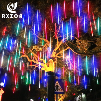 30/50cm Waterproof Meteor Shower Rain 8 Tubes LED String Lights Decor For Tree Christmas Wedding Party Garden Outdoor Decoration new year 30cm outdoor meteor shower rain 8 tubes led string lights waterproof for christmas wedding party decoration